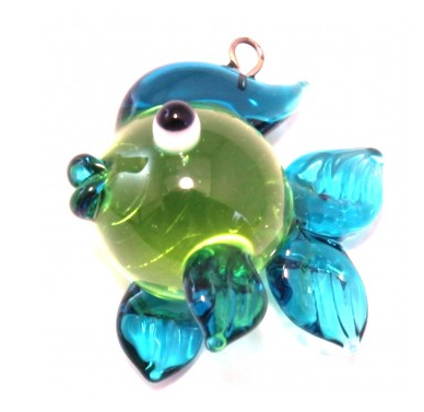 Czech Glass Lampwork Fish Bead