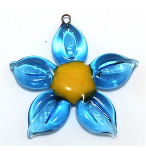 Lampwork Glass Flower Beads, Czech 25MM