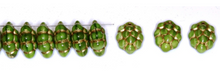 Load image into Gallery viewer, Czech Pressed Glass Beads 14MM x 10MM Grapes