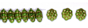 Czech Pressed Glass Beads 14MM x 10MM Grapes