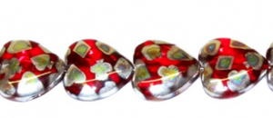 Czech Pressed Glass Heart Beads