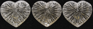 Czech Clear Glass Heart 22MM