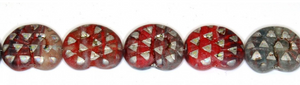 Czech Glass Rainbow Anemone Bead 16MM