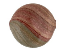Load image into Gallery viewer, Rust and Gray Blown Murano Glass Flat Round Bead