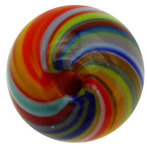 Murano Glass Bead Mouth Blown Carnevale Colors Round 20MM
