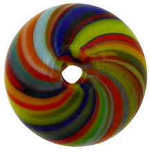 Load image into Gallery viewer, Murano Glass Bead Mouth Blown Carnevale Colors Cipollina 20MM