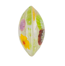Load image into Gallery viewer, Clear Multi Millefiori Discs Puffy 17MM Murano Glass Bead