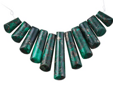 Load image into Gallery viewer, Malachite & Pyrite 15-38MM 11-Piece Ladder Pendant Set
