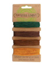 Hemp Cord - 4 - Pack - Fall Harvest #4190