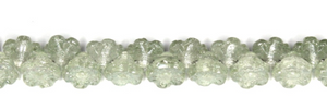Czech Pressed Glass Flower Beads Side Drilled 6MM