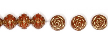Load image into Gallery viewer, Czech Pressed Glass Saturn Shape Beads