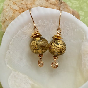 Gold Venetian Foil Earrings