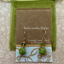 Load image into Gallery viewer, Green Wedding Cake and Peridot Earrings