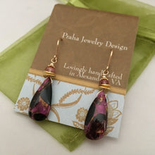 Load image into Gallery viewer, Pink Copper Obsidian Earrings