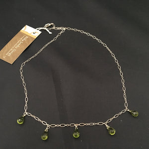 Peridot Teardrop Necklace