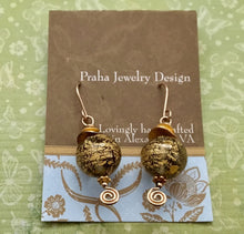 Load image into Gallery viewer, Gold Venetian Foil Earrings