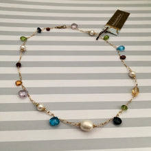 Load image into Gallery viewer, Multi Gemstone and Freshwater Pearl Necklace