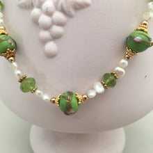 Load image into Gallery viewer, Wedding Cake Necklace and Peridot Necklace