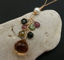 Load image into Gallery viewer, Citrine Onion-Cut Drop Necklace