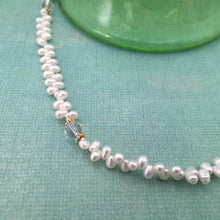 Load image into Gallery viewer, Freshwater Pearl and White Topaz Necklace