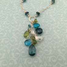 Load image into Gallery viewer, London and Swiss Blue Topaz Dangle Necklace