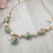 Load image into Gallery viewer, Light Blue Wedding Cake Necklace