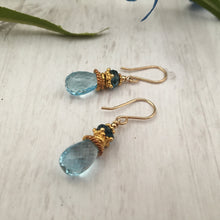 Load image into Gallery viewer, Blue Topaz Earrings