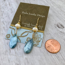 Load image into Gallery viewer, Blue Moonstone Earrings in 14K Gold Fill