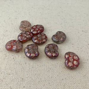 Czech Rainbow Ammonite Bead