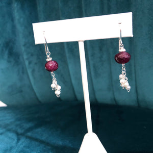DIY Earring Project, Raw Ruby Earring