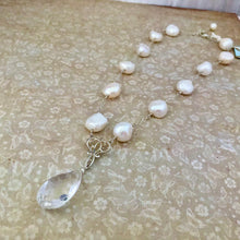Load image into Gallery viewer, Freshwater Pearl and Crystal Quartz Necklace