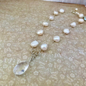 Freshwater Pearl and Crystal Quartz Necklace