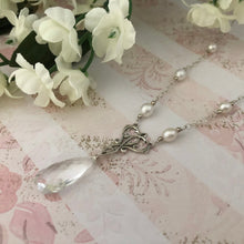 Load image into Gallery viewer, Crystal Quartz Bridal Necklace