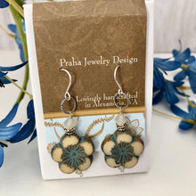 Load image into Gallery viewer, Czech Glass Floral Earrings