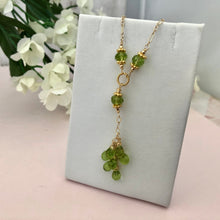 Load image into Gallery viewer, Peridot Drop Necklace