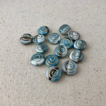 Load image into Gallery viewer, Blue Swirl Czech Glass Beads