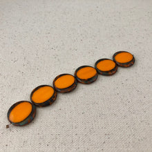 Load image into Gallery viewer, Orange Czech Coin Glass Beads