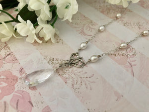 Crystal Quartz Bridal Necklace
