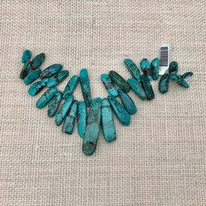 Fancy Cut Large Briollet Turquoise Stones
