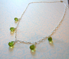 Load image into Gallery viewer, Peridot Teardrop Necklace