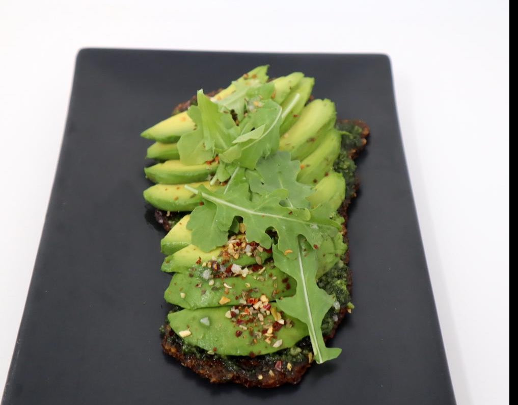 Avocado On Paleo Pizza Cracker