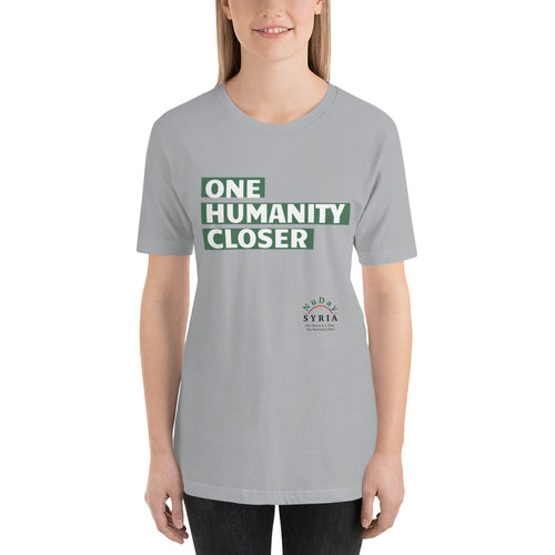 One Humanity Closer Tee - Silver