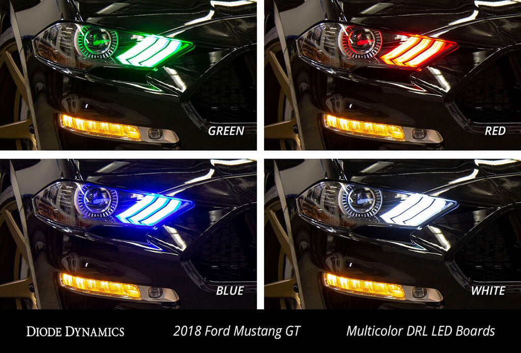 Mustang 2018 RGBWA DRL LED Boards EU
