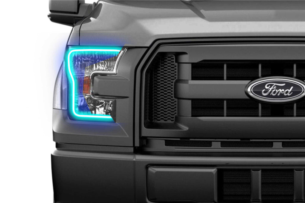 Ford F150 w/o OEM LED (15-17): Profile Pivot (SwitchBack) Fitted Halos (Kit)