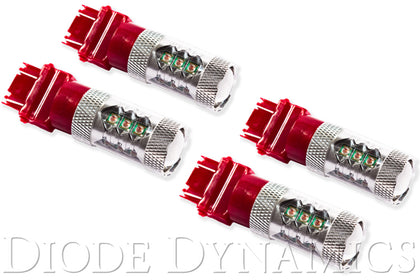 Rear Turn/Tail Light LED for 2007-2013 GMC Sierra 1500 3157 LED Bulb XP80 LED Red Set of 4
