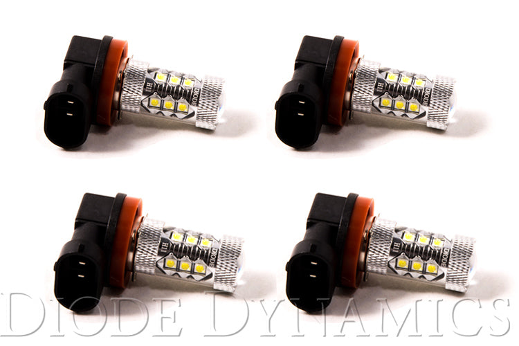 H11 XP80 LED Cool White Set of 4