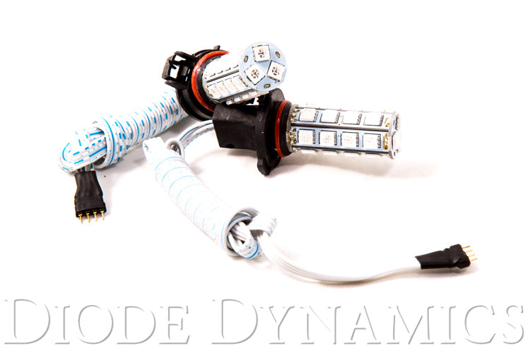 5202/PSX24W SMD27 LED RGB Pair