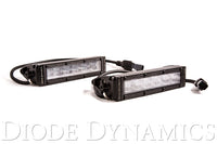 6 Inch LED Light Bar Single Row Straight SS6 White Wide Light Bar Pair