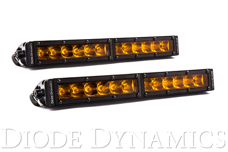 12 Inch LED Light Bar  Single Row Straight Amber Driving Pair Stage Series
