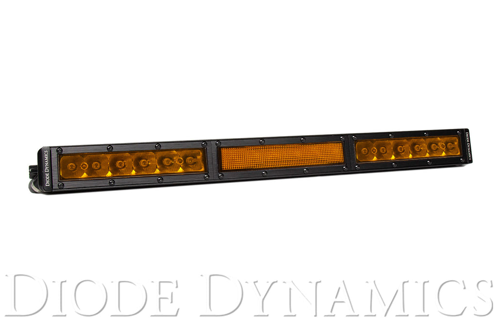 18 Inch LED Light Bar  Single Row Straight Amber Combo Each Stage Series